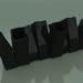 3d model Vase Skyline Up (H 20cm, Black) - preview