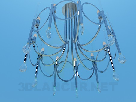 3d model Chandelier with straws - preview