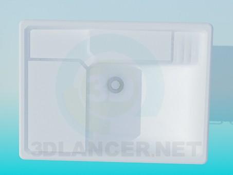 3d модель Удобный умывальник с тумбой – превью
