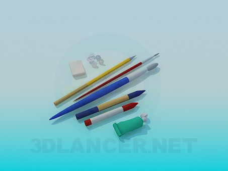 3d model The artist's toolkit - preview
