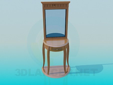 3d model Mirror with a neat table - preview