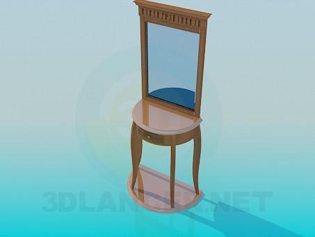 3d модель Зеркало с аккуратным столиком – превью