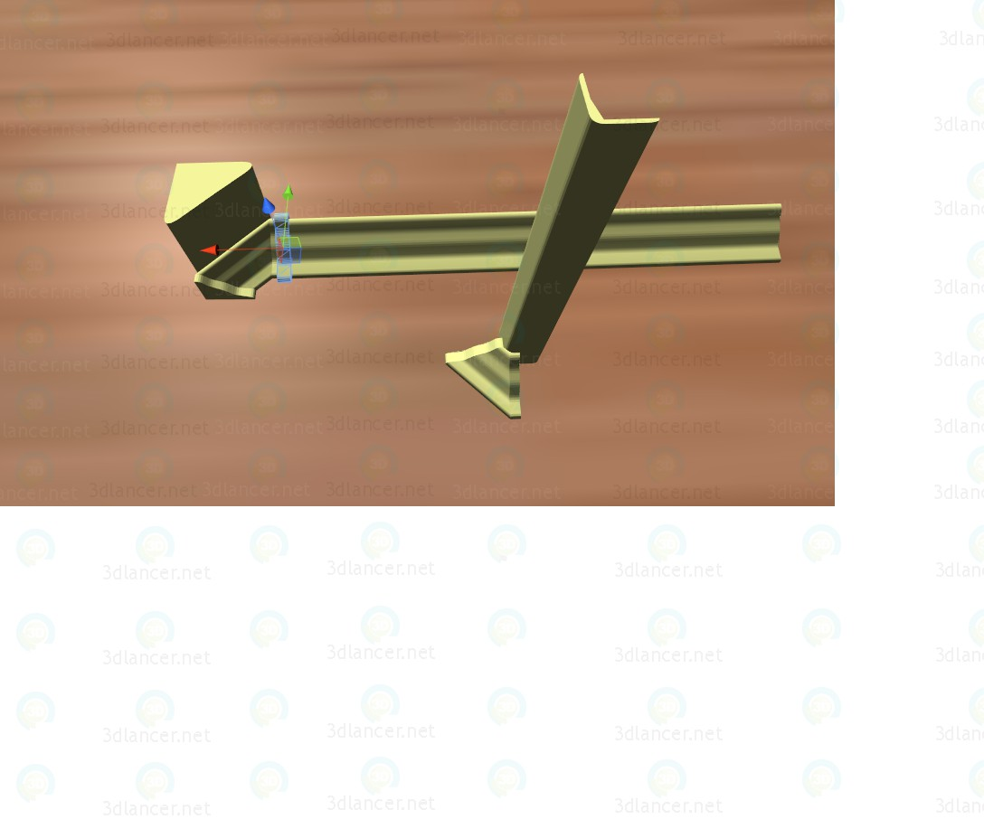 3d модель Плинтус – превью