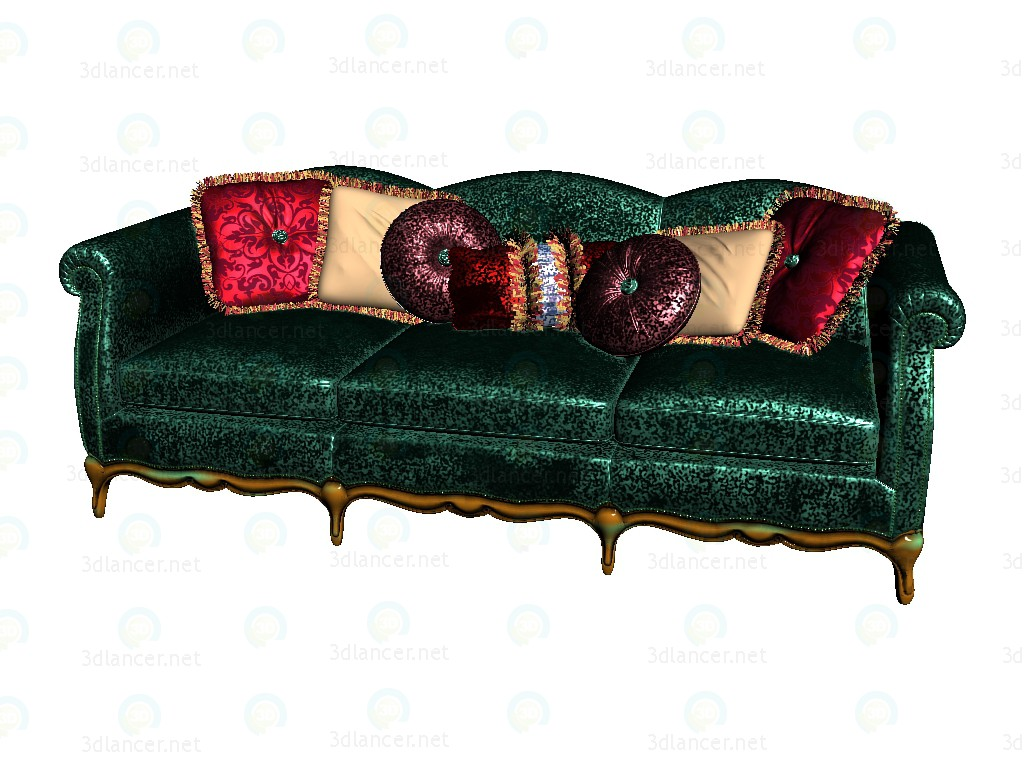 3d model Sofa 3-seater - preview
