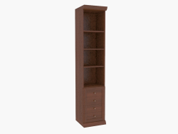 Cabinet narrow with open shelves (261-24)