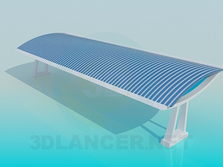 3d modeling Beach tent model free download