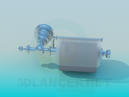 modelo 3D Sostenedor de papel higiénico - escuchar