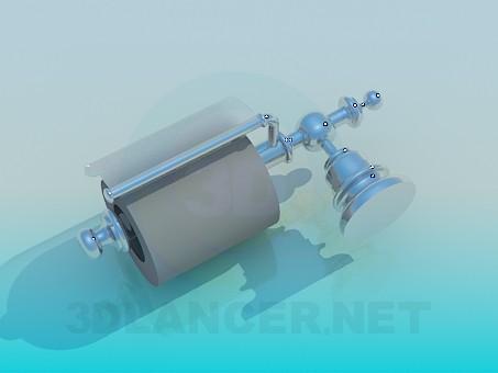 3d model Toilet paper holder - preview