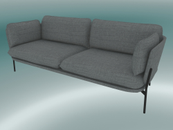 Sofa Sofa (LN3.2, 84x220 H 75cm, Warm black legs, Hot Madison 724)