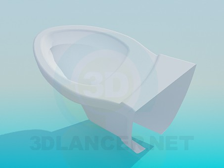 3d model Pan with angle - preview