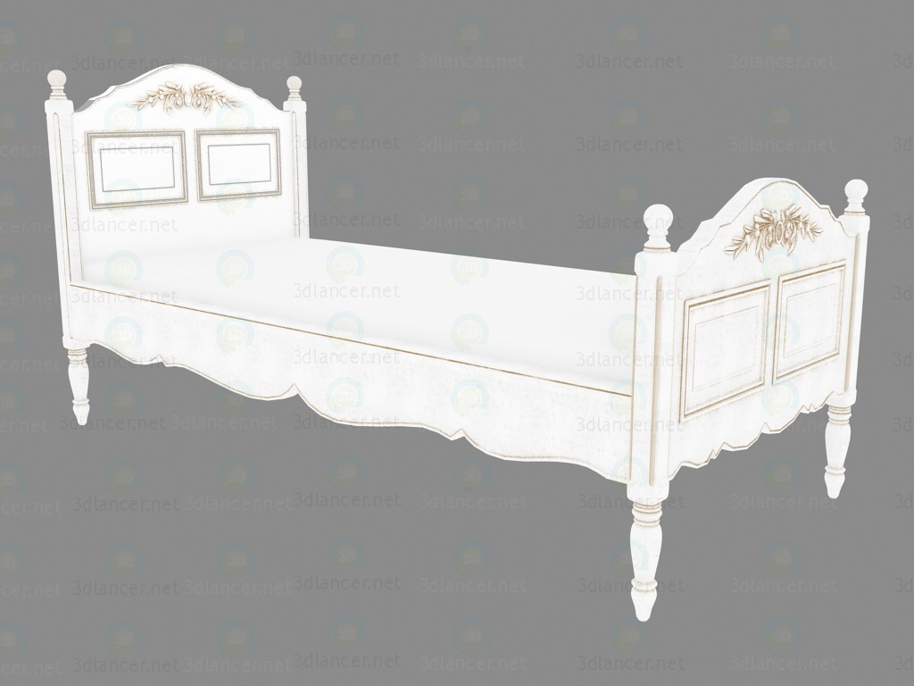 3d модель Кровать односпальная 90x190 (PPL5) – превью