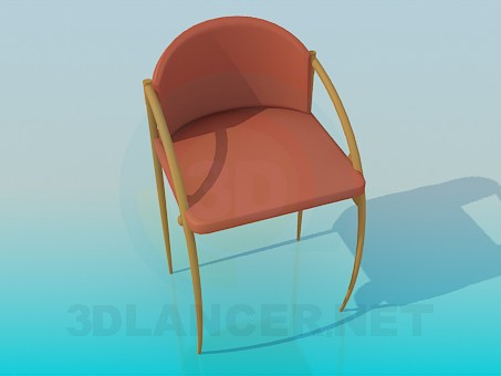 modelo 3D Silla brillante - escuchar