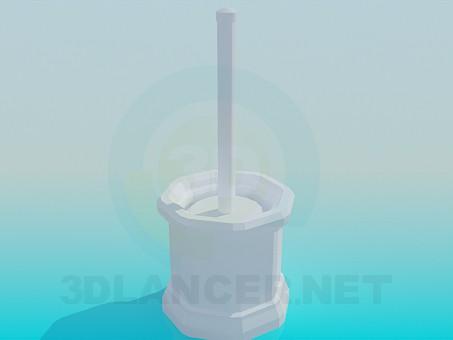 modelo 3D Cepillo para WC - escuchar