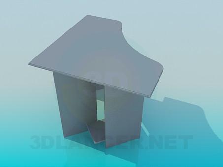 modelo 3D Mesa de ordenador corner - escuchar