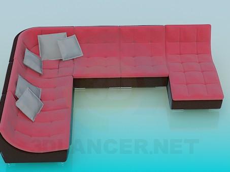 3d model Sofá de la esquina - vista previa