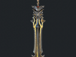 Fantasy sword 18 3d model