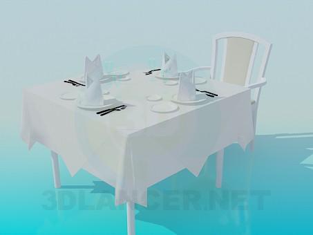 3d моделювання Столик у ресторані модель завантажити безкоштовно