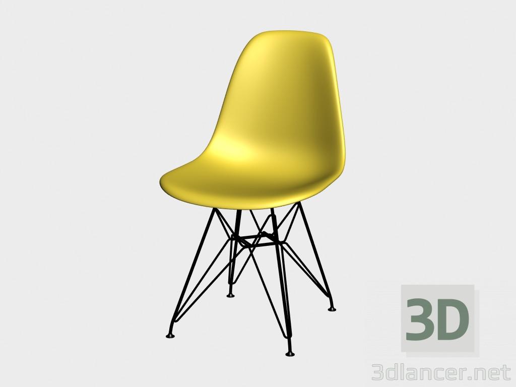 3d model chair eames plastic side chair dsr manufacturer. Black Bedroom Furniture Sets. Home Design Ideas