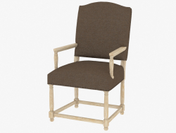 Une chaise à manger avec accoudoirs EDOUARD FAUTEUIL (8826.0018.A008)