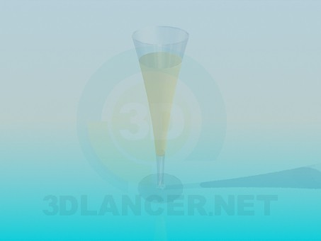 3d model Fougeres with champagne - preview