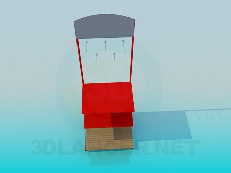 modelo 3D Pila de - escuchar