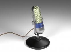 विंटेज माइक्रोफोन - रेट्रो - रेट्रो माइक्रोफोन
