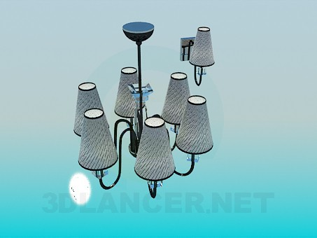 3d model Set the chandelier and wall brackets - preview
