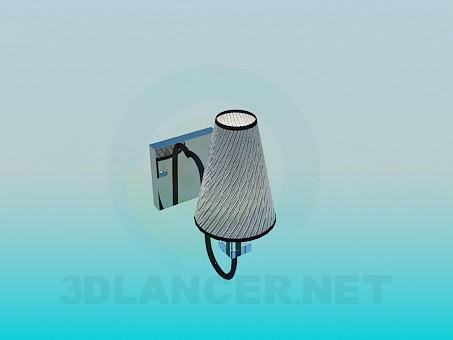 3d модель Комплект люстра и бра – превью