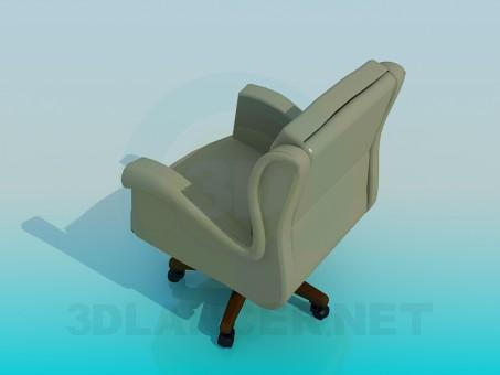 3d модель Кресло офисное – превью