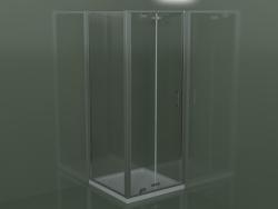 Box doccia Frame GN + GF con porta a battente