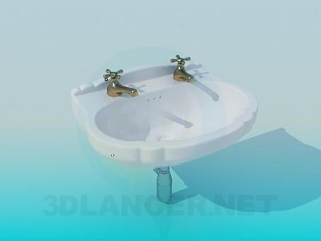 descarga gratuita de 3D modelado modelo Lavabo con 2 grúas