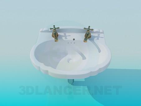 modelo 3D Lavabo con 2 grúas - escuchar