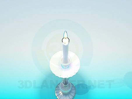 3d модель Свеча в подсвечнике – превью
