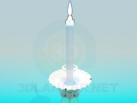 modelo 3D La vela en un candelabro - escuchar