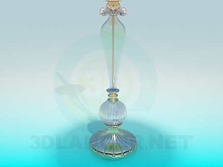 3d model Candle in a candlestick - preview