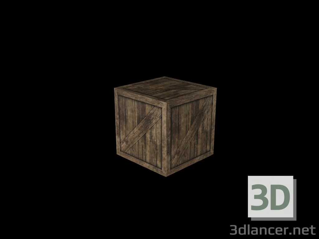 3d model Wooden box - preview