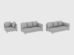 Elements of modular sofa CHOPIN FREE BACK