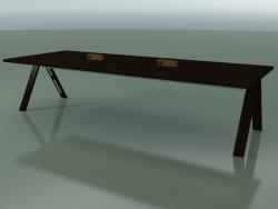 Tavolo con piano da ufficio 5010 (H 74 - 320 x 120 cm, wengè, composizione 2)