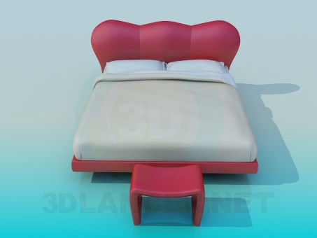 3d modeling Bed model free download