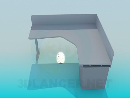3d модель Угловой стол под компьютер – превью