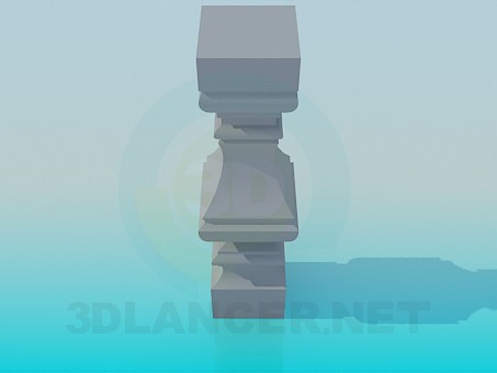 3d model Column for banisters - preview