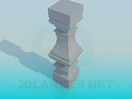 modelo 3D Columna para barandillas - escuchar