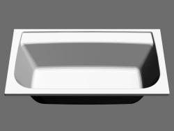 Rectangular bath Praktik N (160x85, left)