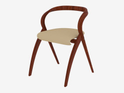 Folding chair with leather upholstery