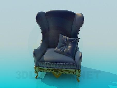 3d модель Антикварное кресло – превью