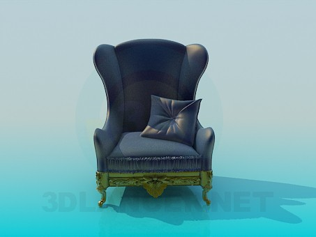 3d model Antique chair - preview
