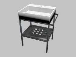 Lavello montato sul piano del tavolo con console - 60х50 cm Termisto (CDTS6U6S)
