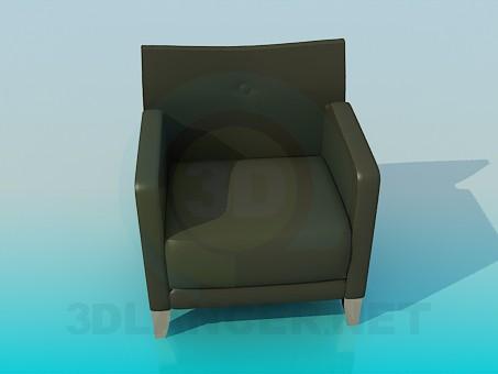 3d моделирование Кресло кожаное модель скачать бесплатно