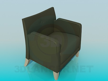 3d model Leather chair - preview