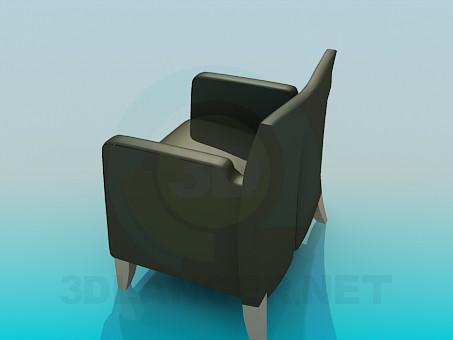 3d модель Кресло кожаное – превью